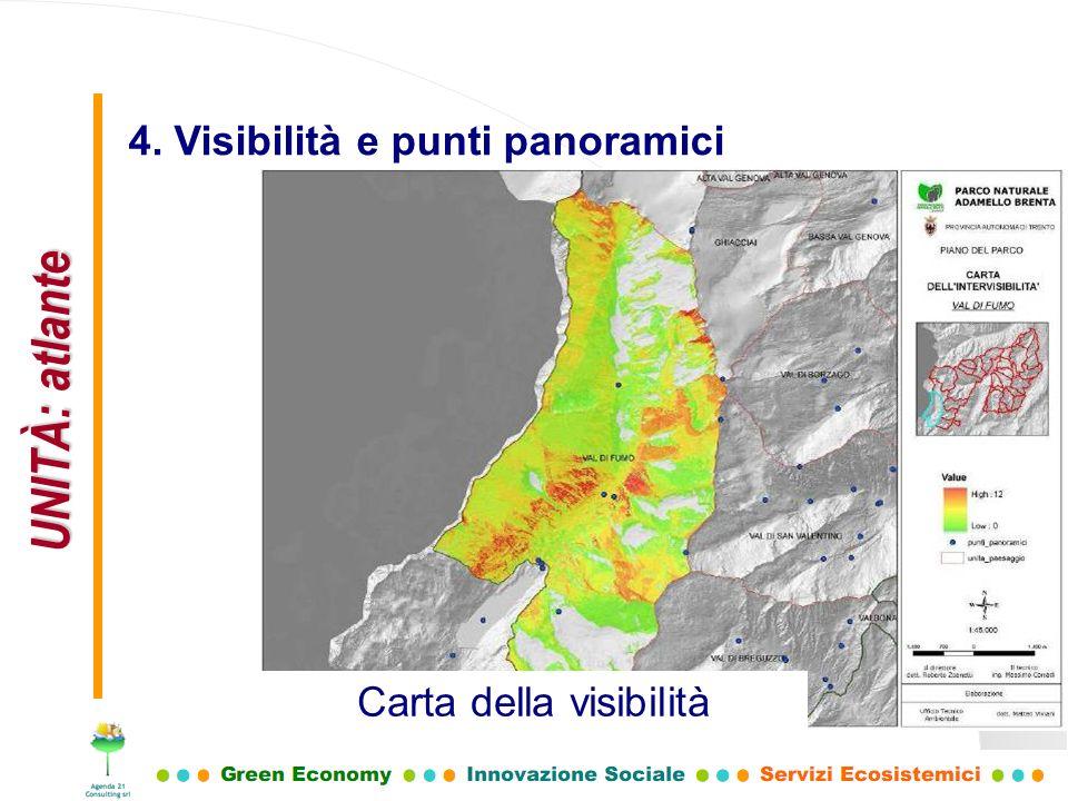 UNITÀ: atlante 4. Visibilità e punti panoramici Carta della visibilità