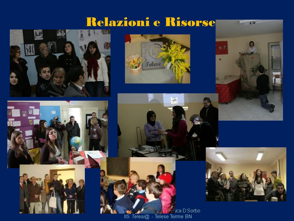 Relazioni e Risorse Mirella Colangelo – Domenica D Sorbo IIS Telesi@ - Telese Terme BN