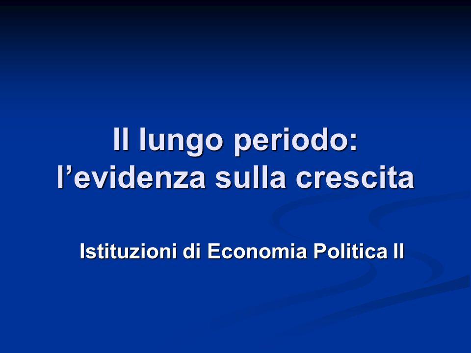Il lungo periodo: levidenza sulla crescita Istituzioni di Economia Politica II
