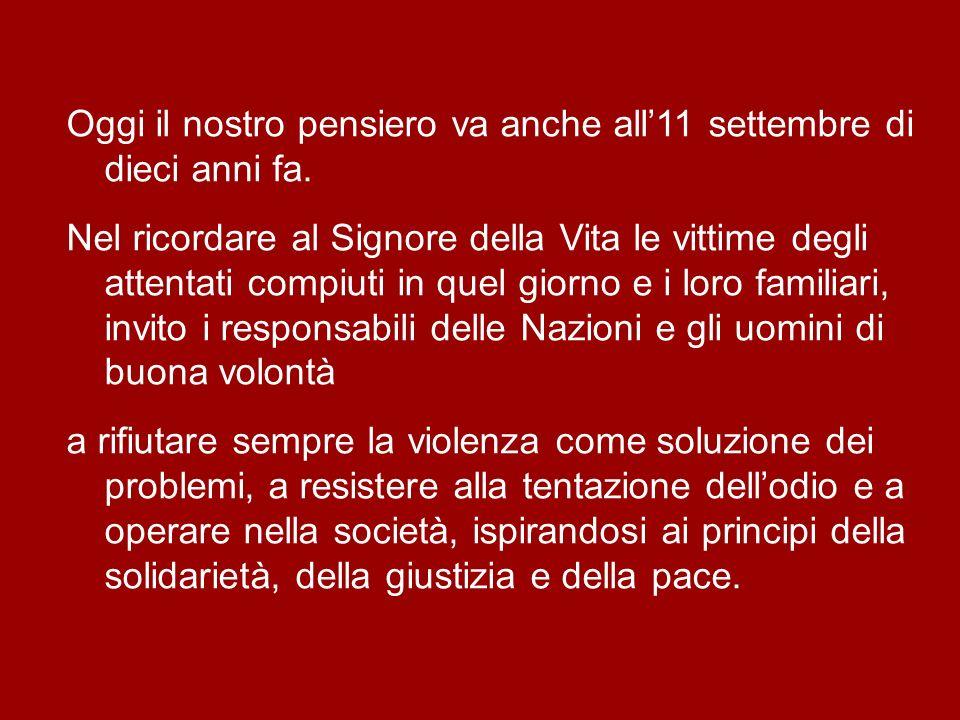 A Lei affido in questo momento la città di Ancona, la Diocesi, le Marche e lItalia intera, affinché nel popolo italiano sia sempre viva la fede nel Mi