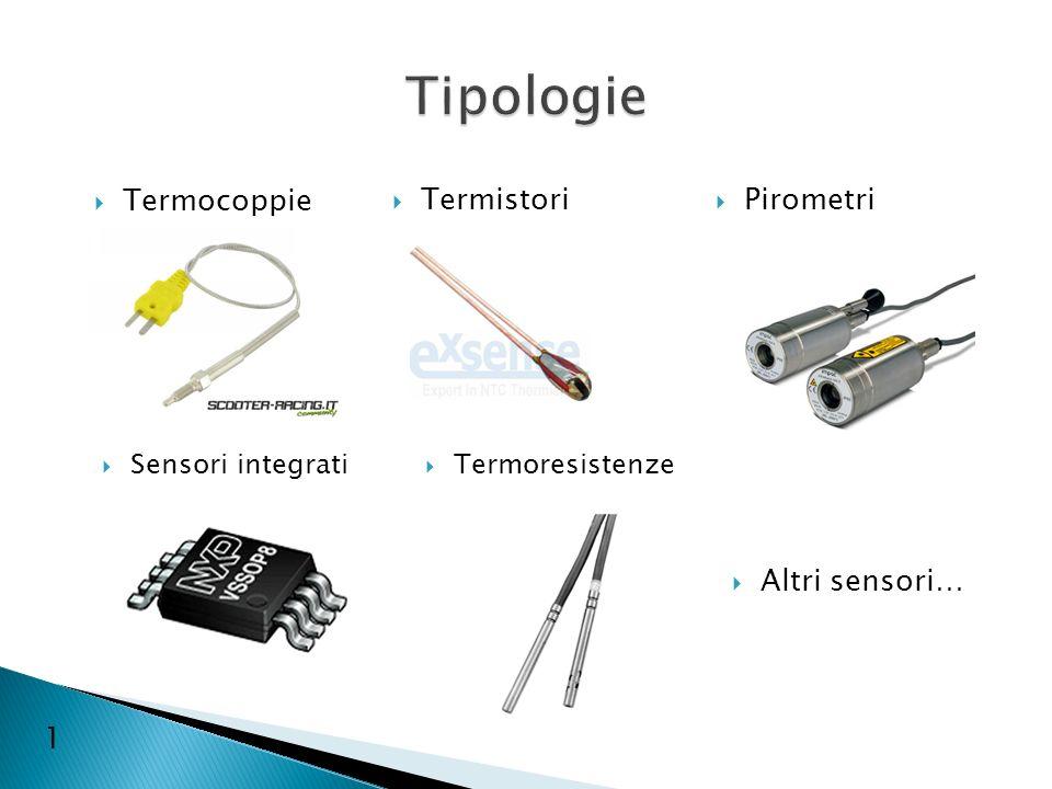 Termistori Termocoppie Pirometri Sensori integrati Termoresistenze Altri sensori… 1