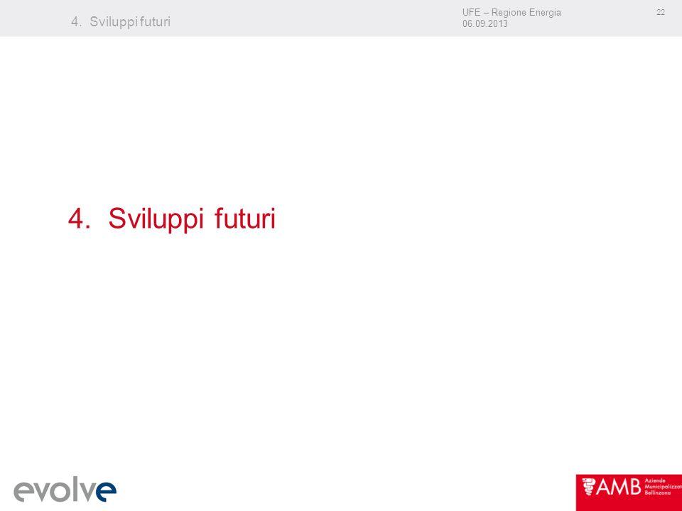 UFE – Regione Energia 06.09.2013 22 4. Sviluppi futuri
