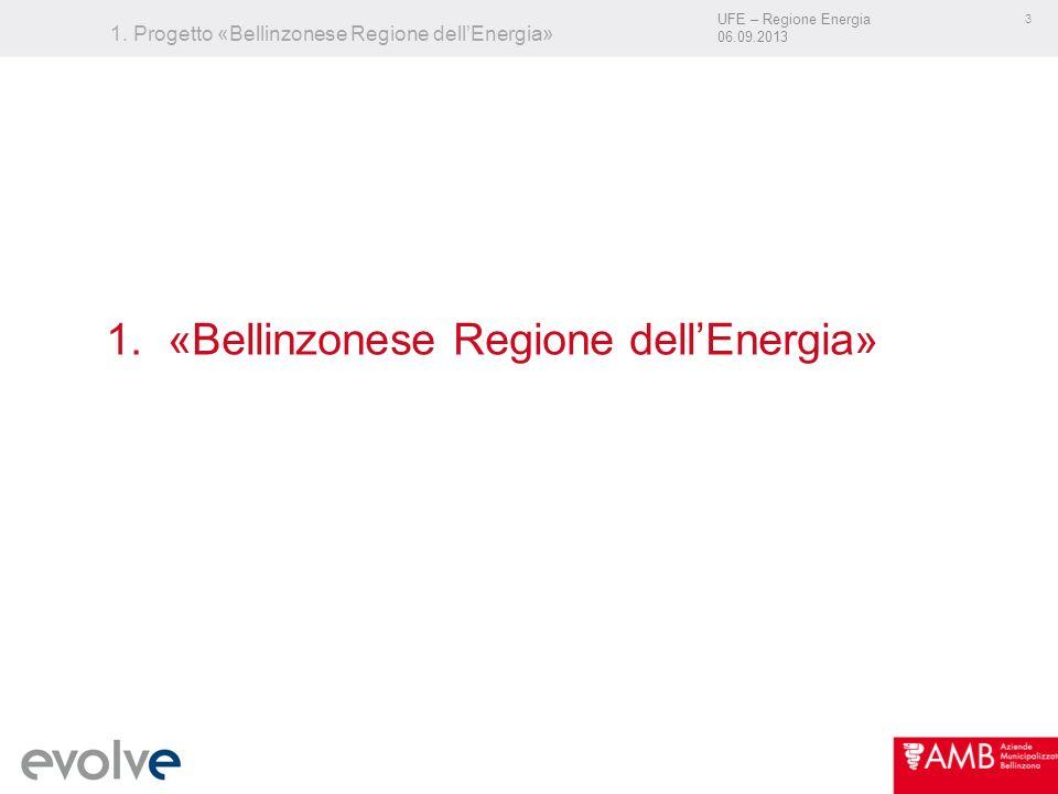 UFE – Regione Energia 06.09.2013 3 1. Progetto «Bellinzonese Regione dellEnergia» 1.