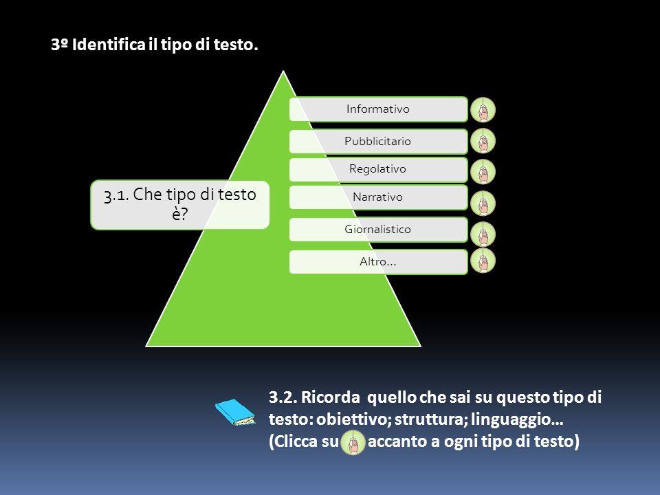 InformativoPubblicitarioRegolativoNarrativoGiornalisticoAltro… 3.1.