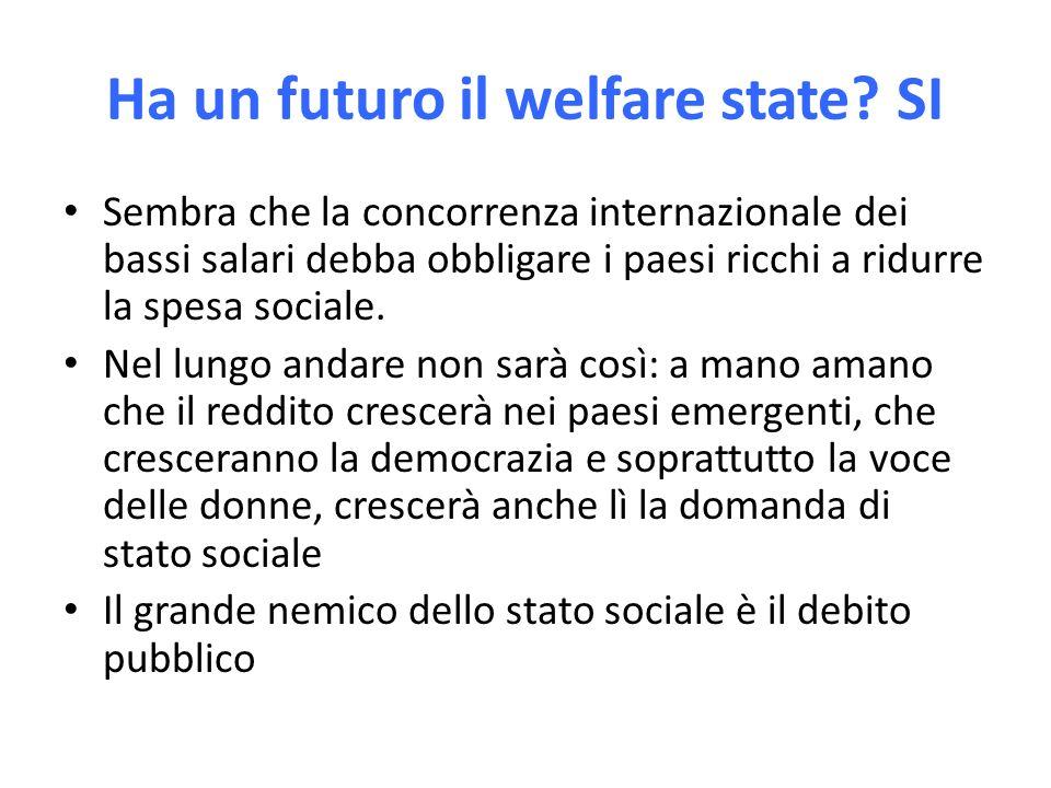 Ha un futuro il welfare state.