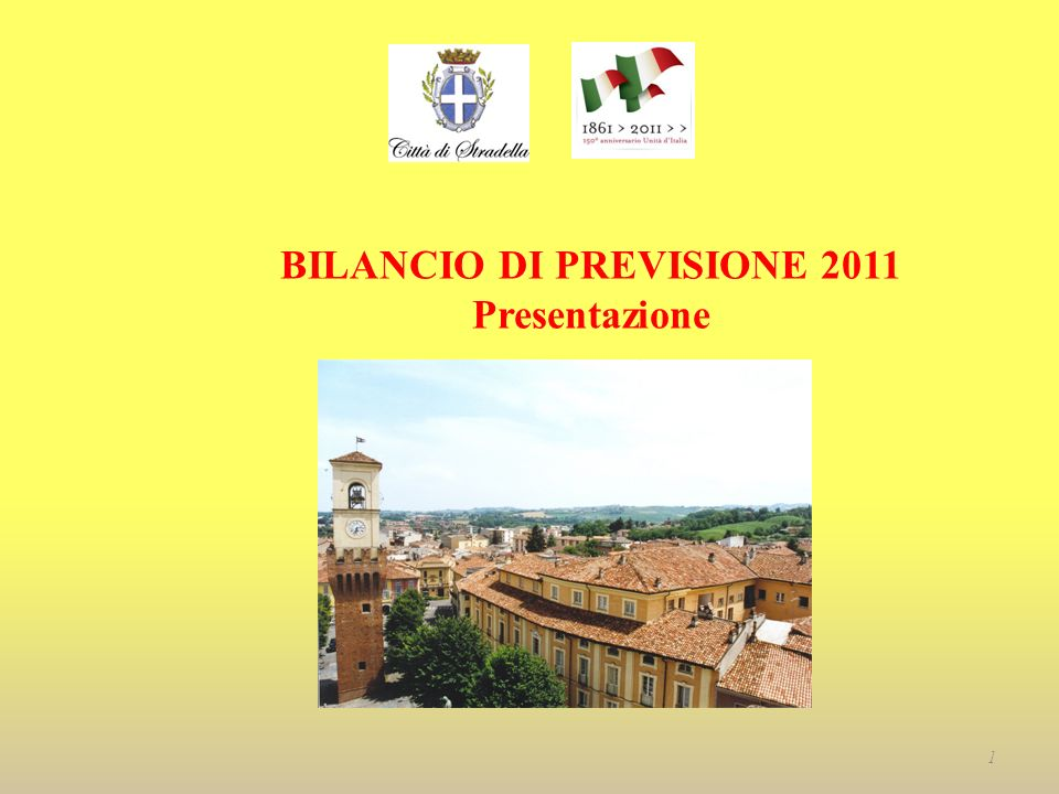 BILANCIO DI PREVISIONE 2011 Presentazione 1