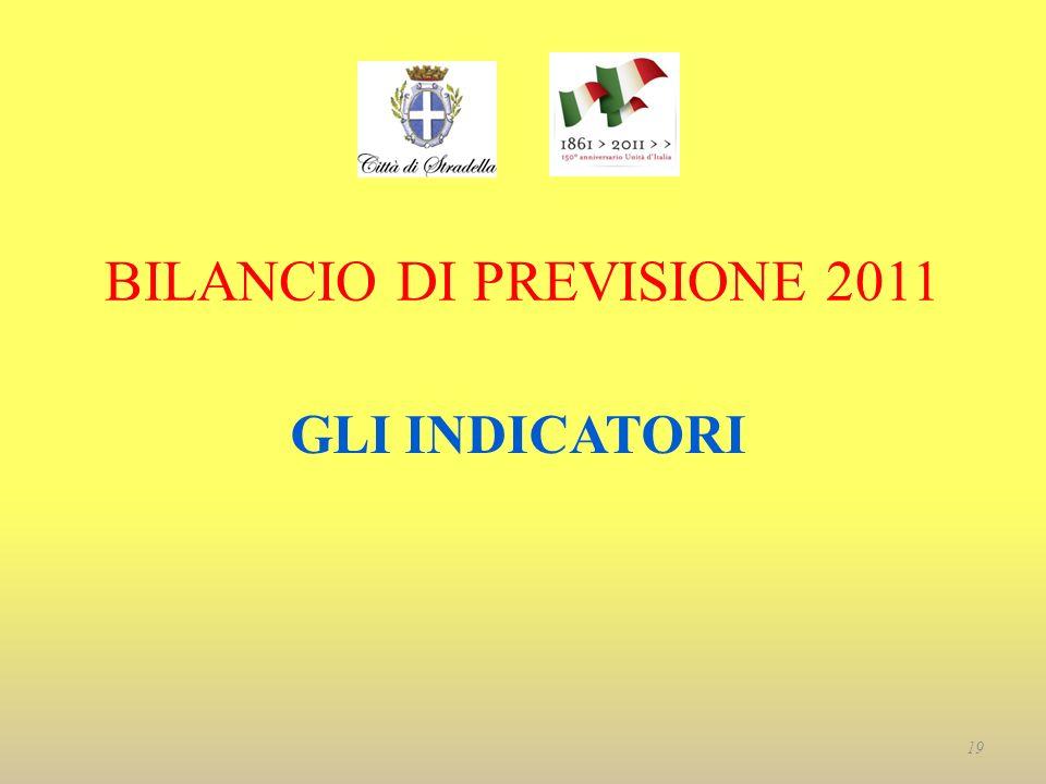 BILANCIO DI PREVISIONE 2011 GLI INDICATORI 19