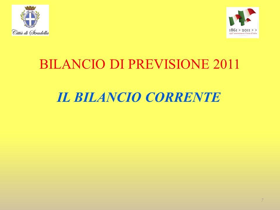 BILANCIO DI PREVISIONE 2011 IL BILANCIO CORRENTE 7