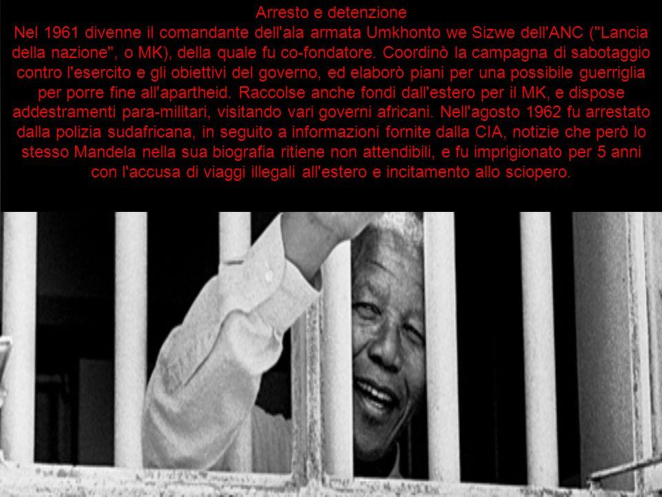 Arresto e detenzione Nel 1961 divenne il comandante dell'ala armata Umkhonto we Sizwe dell'ANC (