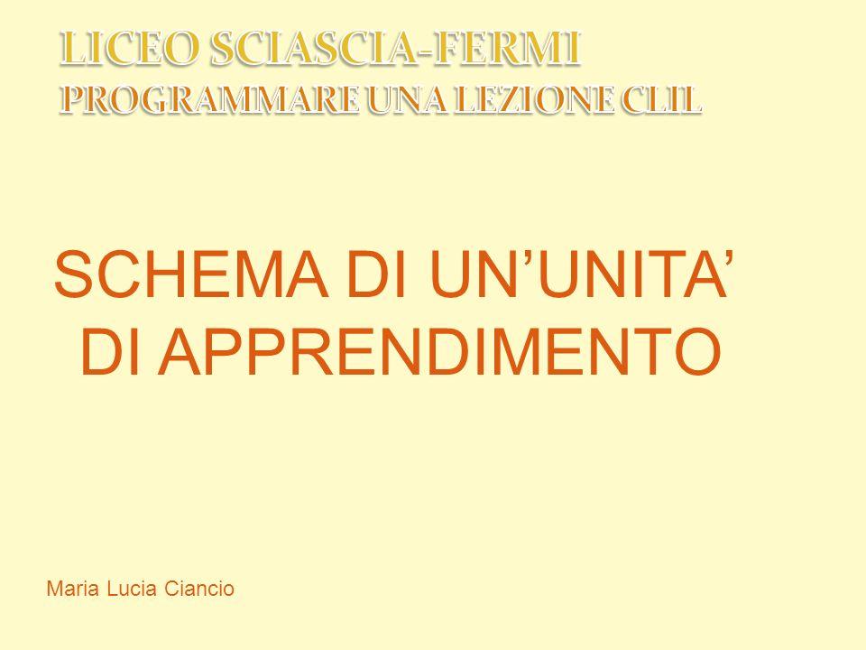 PRIMA DI COMINCIARE Maria Lucia Ciancio