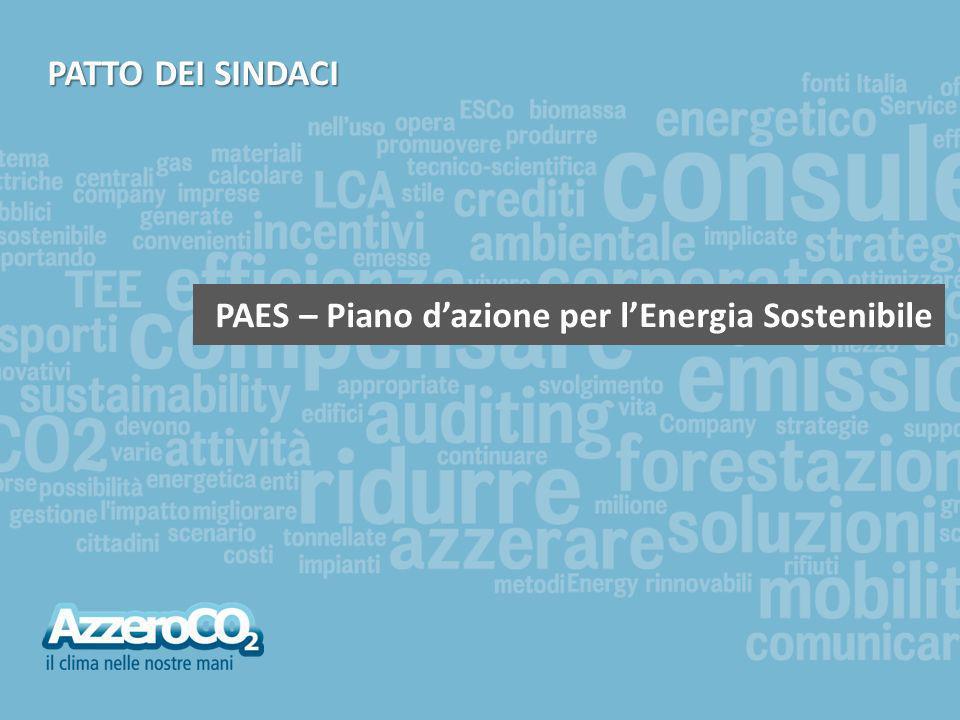 AzzeroCO 2 | Divisione Enti Pubblici | 2 AzzeroCO 2 | Divisione Enti Pubblici | 2 Il Patto dei Sindaci Nel Gennaio 2008 la Commissione Europea in occasione della settimana per lEnergia Sostenibile (EUSEW 2008) ha lanciato il Patto dei Sindaci, uniniziativa mirata a coinvolgere le città europee in un percorso virtuoso di sostenibilità energetica ed ambientale Le città aderenti si impegnano a ridurre di almeno il 20% le proprie emissioni di CO 2 (anidride carbonica) rispetto ad un anno di riferimento, attraverso politiche e azioni condotte a livello locale che incrementino la produzione di energia da fonti rinnovabili e il risparmio energetico.