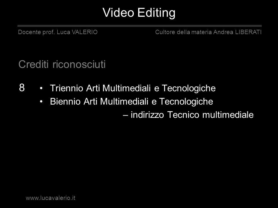 Triennio Arti Multimediali e Tecnologiche Biennio Arti Multimediali e Tecnologiche – indirizzo Tecnico multimediale Docente prof. Luca VALERIO Cultore