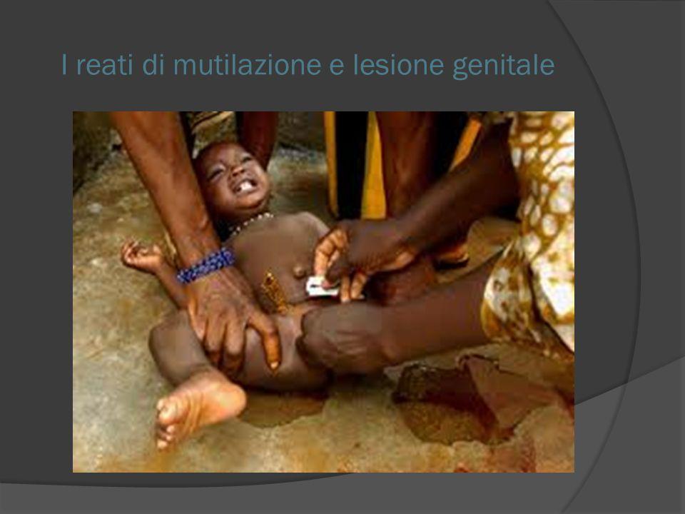I reati di mutilazione e lesione genitale