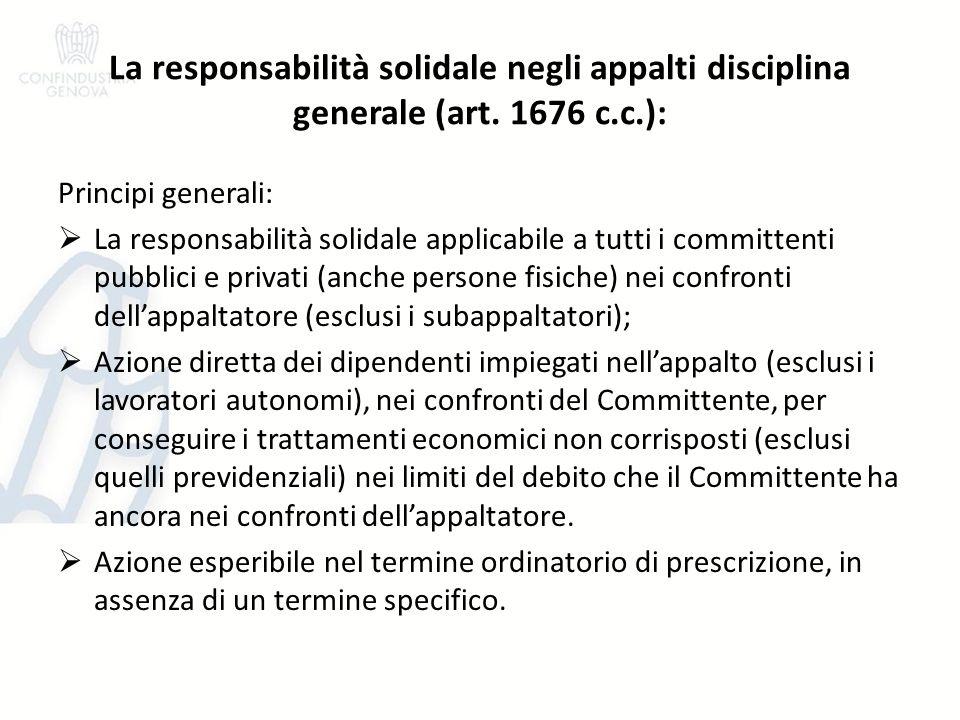 ….segue disciplina speciale (art.29, c.2 D.Lgs. 276/2003 come modificato dalla L.