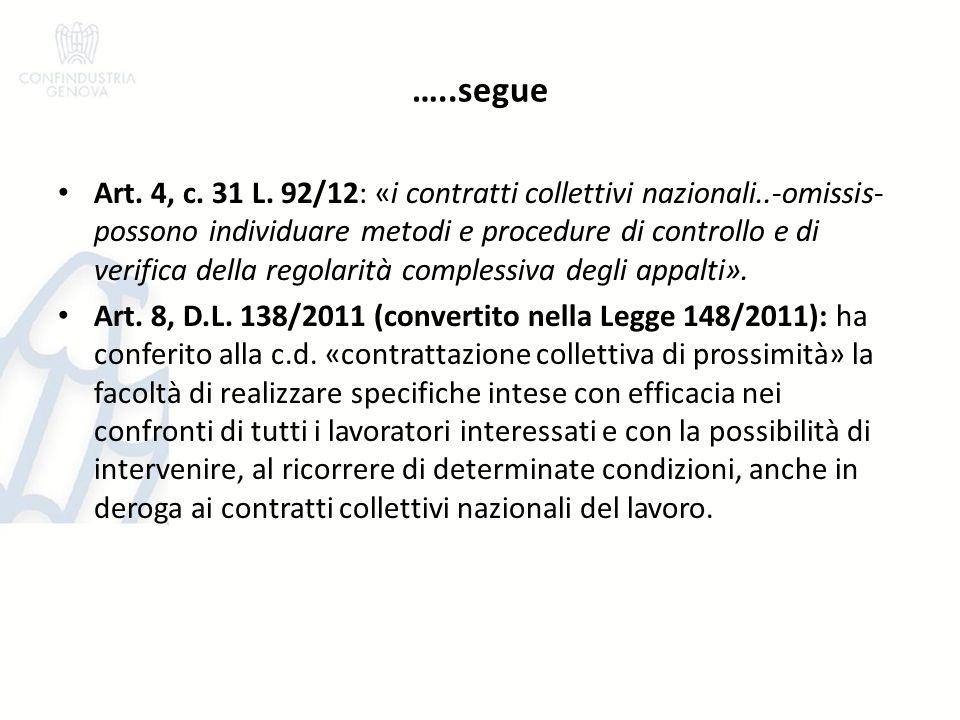 …..segue Art. 4, c. 31 L.