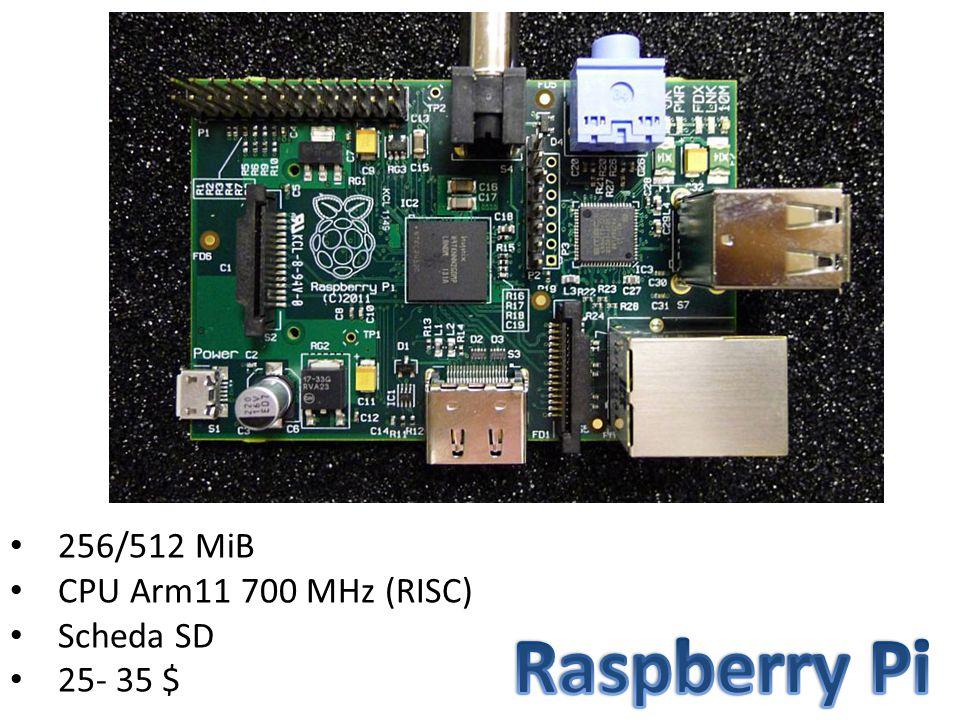256/512 MiB CPU Arm11 700 MHz (RISC) Scheda SD 25- 35 $