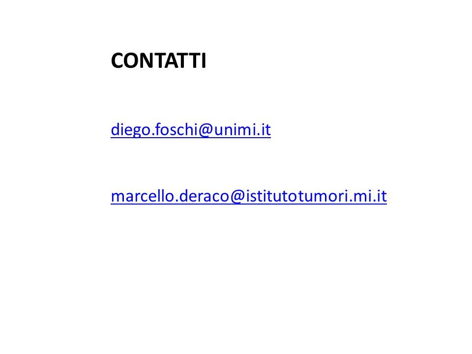CONTATTI diego.foschi@unimi.it marcello.deraco@istitutotumori.mi.it