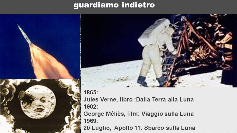 ICTP 13 guardiamo indietro 1865: Jules Verne, libro :Dalla Terra alla Luna 1902: George Méliès, film: Viaggio sulla Luna 1969: 20 Luglio, Apollo 11: S