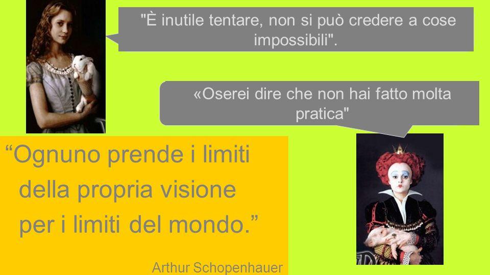 ICTP 13 2 Ognuno prende i limiti della propria visione per i limiti del mondo. Arthur Schopenhauer