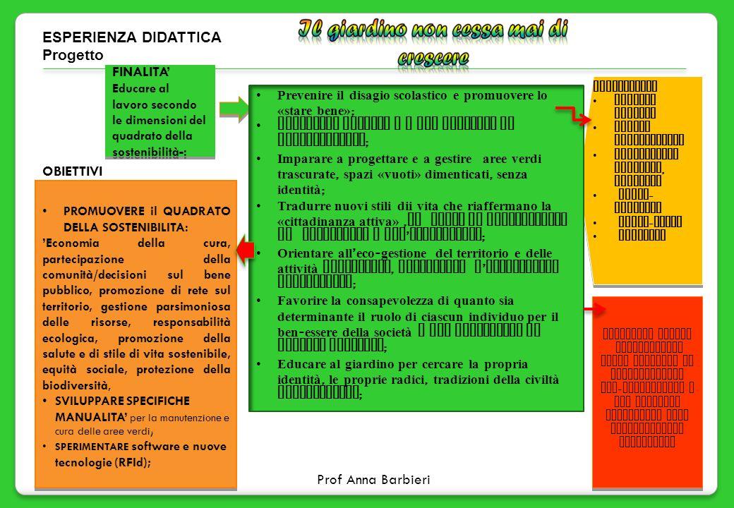 11 ESPERIENZA DIDATTICA Progetto METODOLOGIA ricerca guidata metodo sperimentale cooperative learning, tutoring brain - storming focus - group casewor
