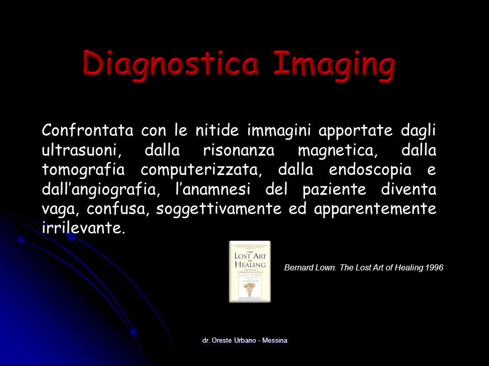 Confrontata con le nitide immagini apportate dagli ultrasuoni, dalla risonanza magnetica, dalla tomografia computerizzata, dalla endoscopia e dallangiografia, lanamnesi del paziente diventa vaga, confusa, soggettivamente ed apparentemente irrilevante.