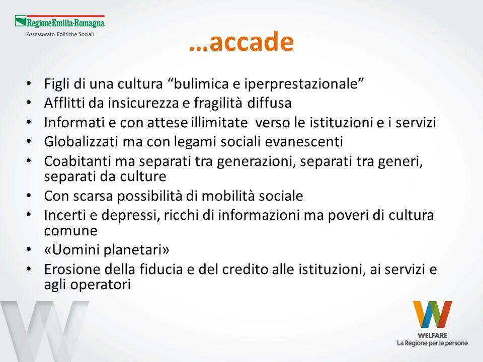 Gli operatori In Emilia-Romagna sono stati stimati 49.500 operatori sociali (2010) Circa 27.600 sono a diretto contatto con lutenza.