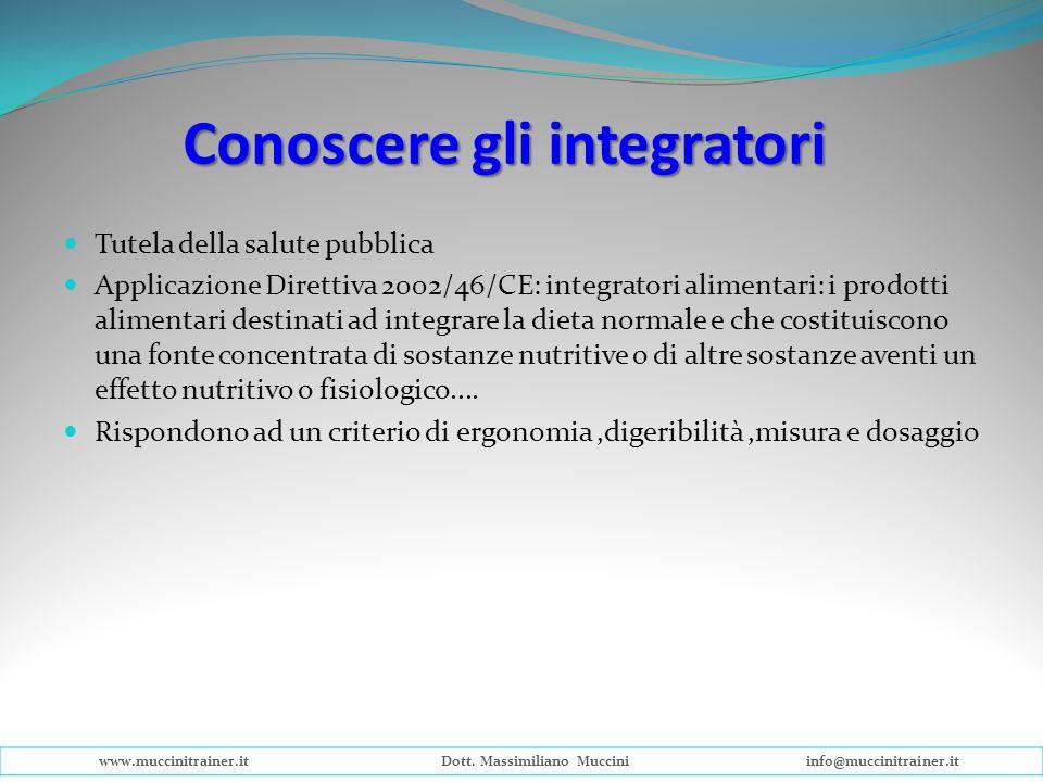 Tutela della salute pubblica Applicazione Direttiva 2002/46/CE: integratori alimentari: i prodotti alimentari destinati ad integrare la dieta normale