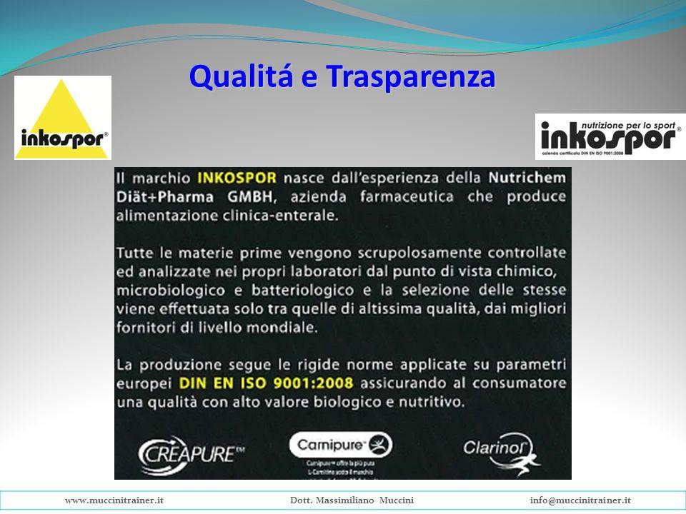Qualitá e Trasparenza www.muccinitrainer.itDott. Massimiliano Mucciniinfo@muccinitrainer.it