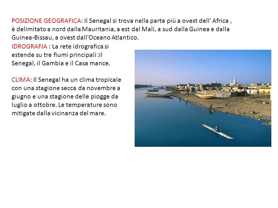IDROGRAFIA : La rete idrografica si estende su tre fiumi principali :il Senegal, il Gambia e il Casa mance. CLIMA: Il Senegal ha un clima tropicale co