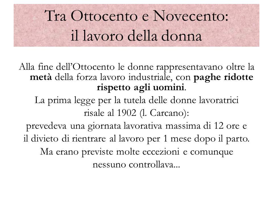 Il Novecento: la minorità giuridica della donna III Codice civile del 1942 Art.