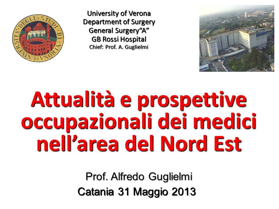 University of Verona Department of Surgery General SurgeryA GB Rossi Hospital Chief: Prof. A. Guglielmi Attualità e prospettive occupazionali dei medi