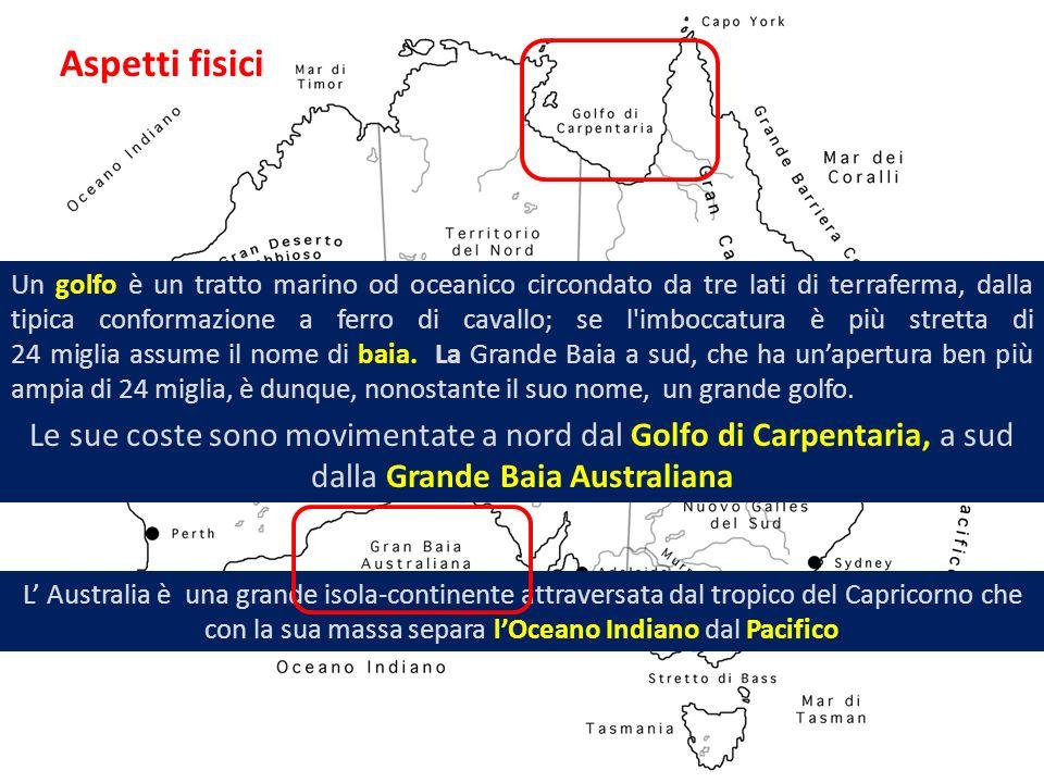 L Australia è una grande isola-continente attraversata dal tropico del Capricorno che con la sua massa separa lOceano Indiano dal Pacifico Le sue cost