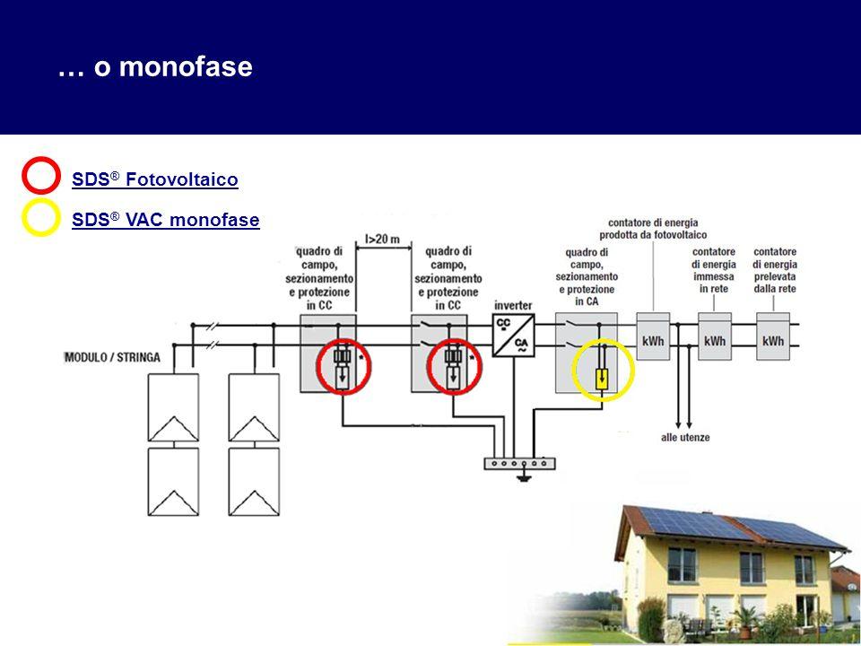 9 … o monofase SDS ® Fotovoltaico SDS ® VAC monofase