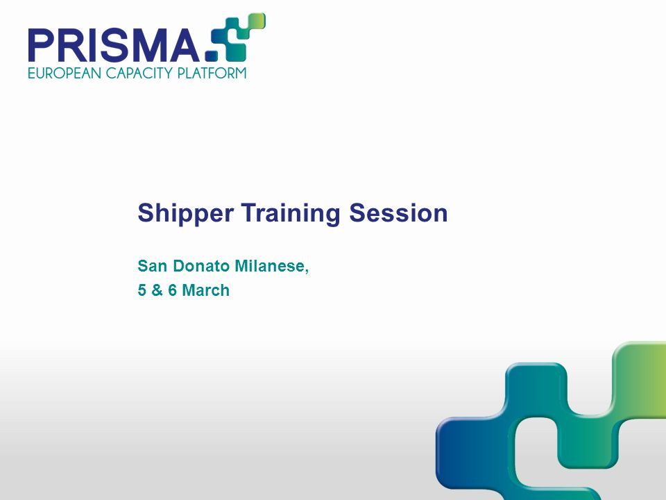 Shipper Training Session San Donato Milanese, 5 & 6 March