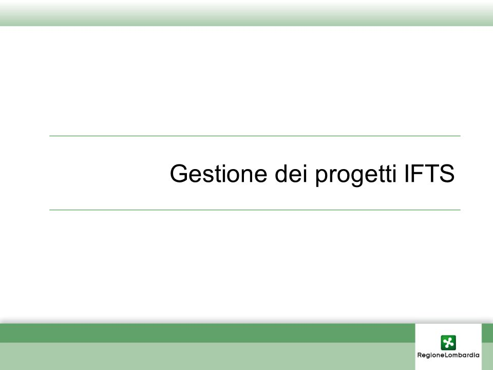 Gestione dei progetti IFTS