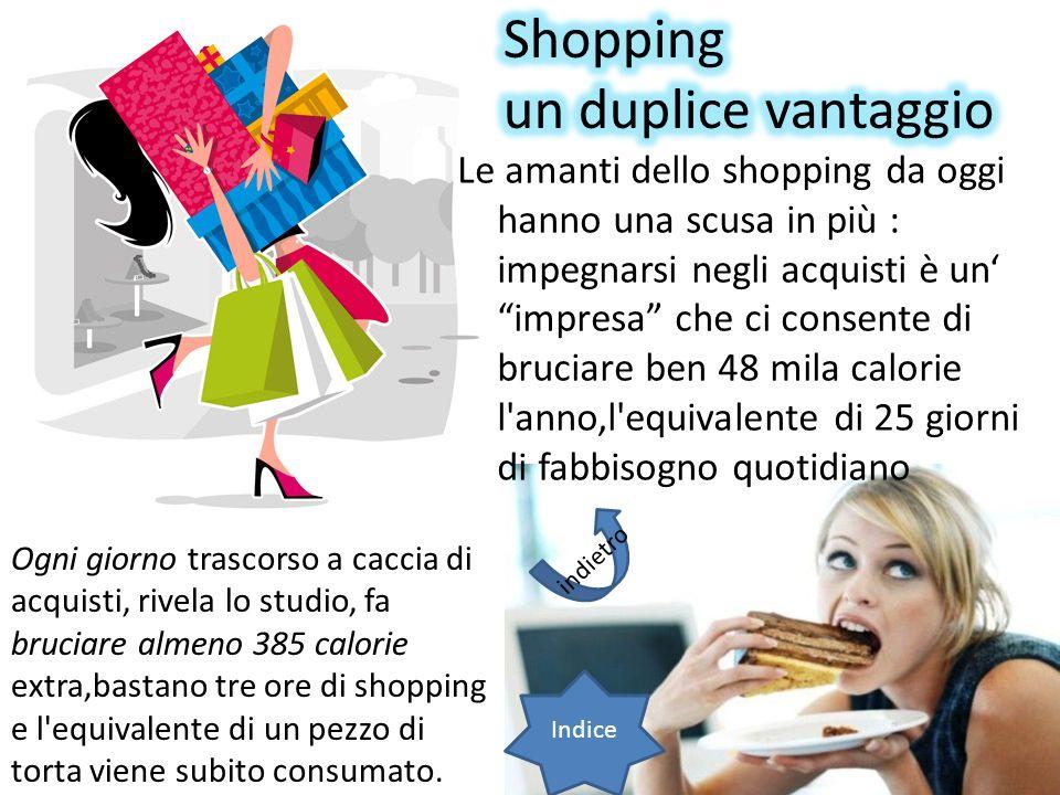Le amanti dello shopping da oggi hanno una scusa in più : impegnarsi negli acquisti è un impresa che ci consente di bruciare ben 48 mila calorie l'ann