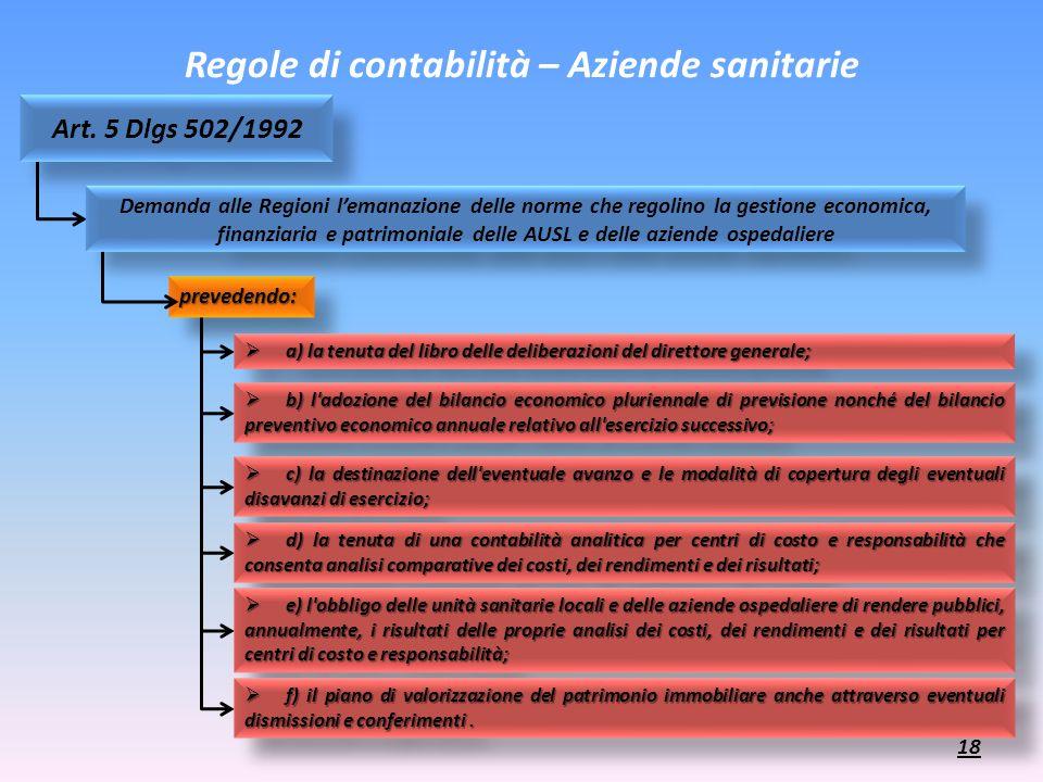 prevedendo:prevedendo: Regole di contabilità – Aziende sanitarie a) la tenuta del libro delle deliberazioni del direttore generale; a) la tenuta del l