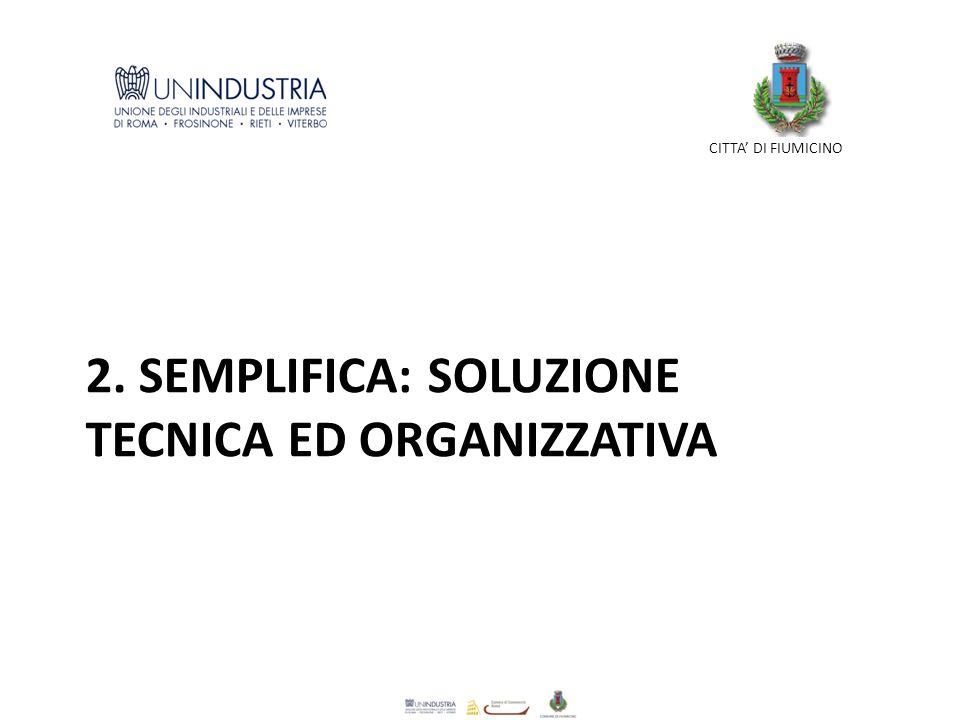 2. SEMPLIFICA: SOLUZIONE TECNICA ED ORGANIZZATIVA CITTA DI FIUMICINO