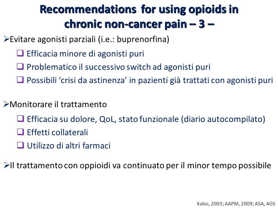 Monitorare il trattamento Efficacia su dolore, QoL, stato funzionale (diario autocompilato) Effetti collaterali Utilizzo di altri farmaci Il trattamen