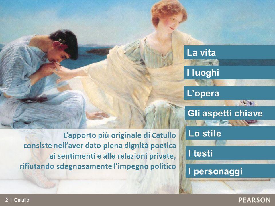 I personaggi Lapporto più originale di Catullo consiste nellaver dato piena dignità poetica ai sentimenti e alle relazioni private, rifiutando sdegnos