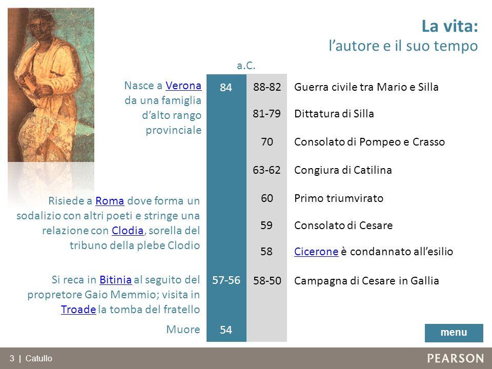 84 81-79 70 63-62 60 57-56 58-50 Nasce a VeronaVerona da una famiglia dalto rango provinciale Risiede a Roma dove forma un sodalizio con altri poeti e
