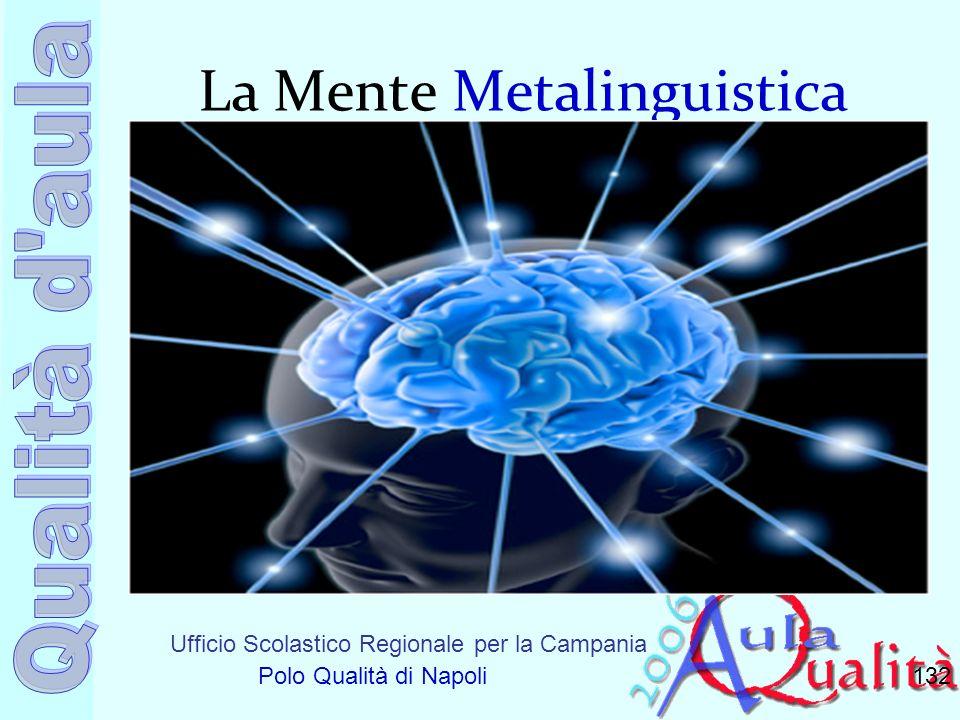 Ufficio Scolastico Regionale per la Campania Polo Qualità di Napoli La Mente Metalinguistica 132