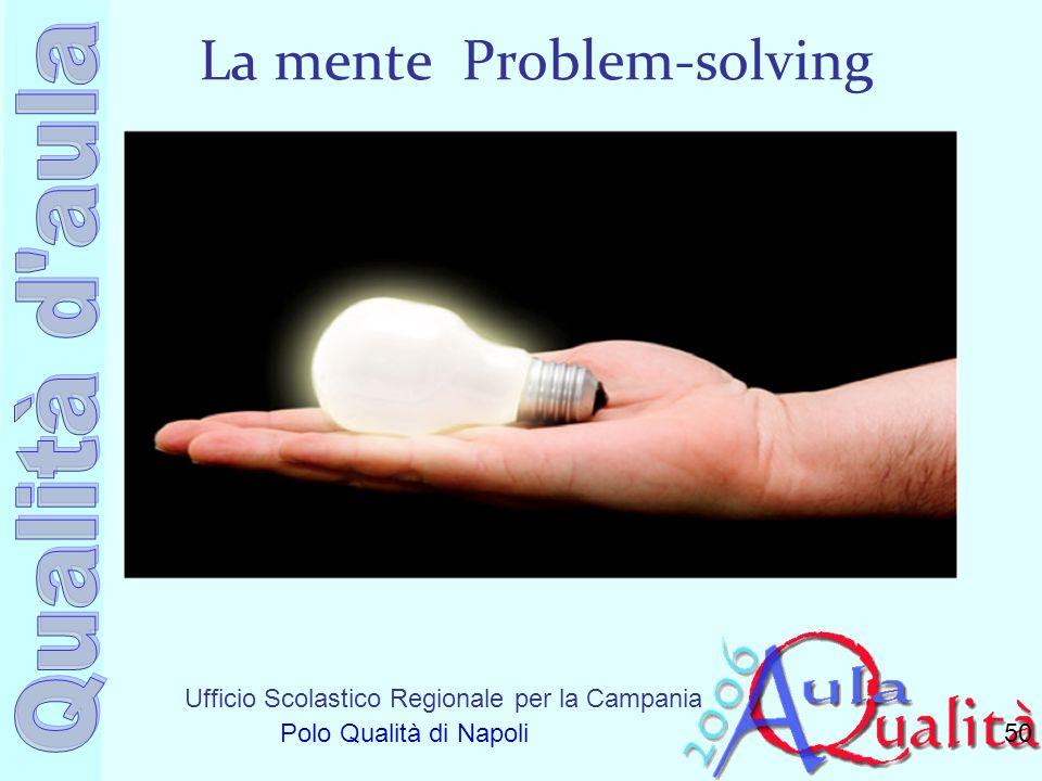 Ufficio Scolastico Regionale per la Campania Polo Qualità di Napoli La mente Problem-solving 50