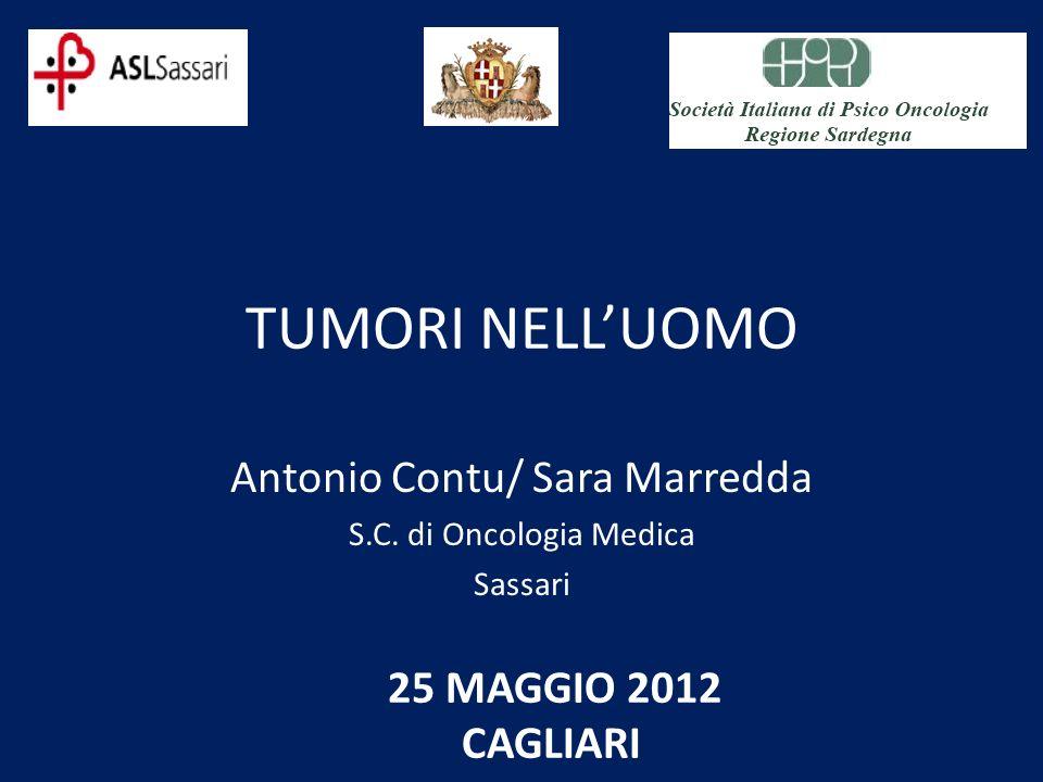 TUMORI NELLUOMO Antonio Contu/ Sara Marredda S.C. di Oncologia Medica Sassari 25 MAGGIO 2012 CAGLIARI