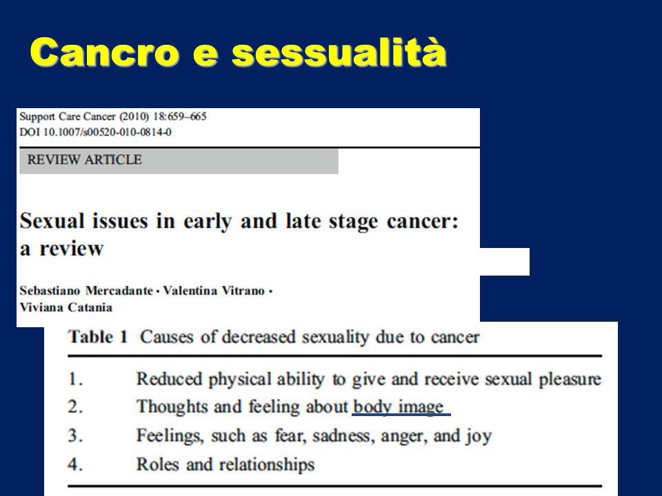 Cancro e sessualità