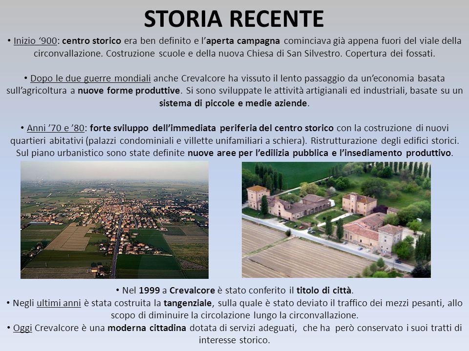 STORIA RECENTE Inizio 900: centro storico era ben definito e laperta campagna cominciava già appena fuori del viale della circonvallazione. Costruzion