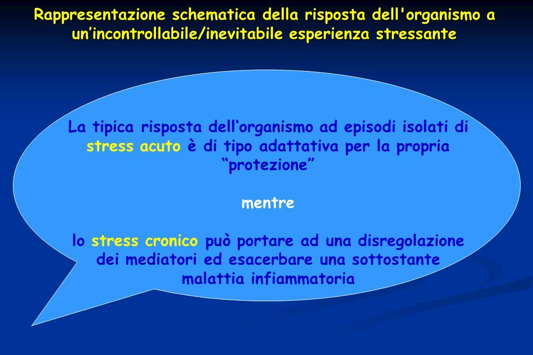 Rappresentazione schematica della risposta dell'organismo a unincontrollabile/inevitabile esperienza stressante La tipica risposta dellorganismo ad ep