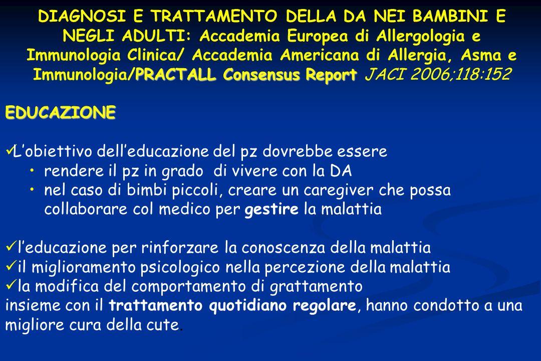PRACTALLConsensus Report DIAGNOSI E TRATTAMENTO DELLA DA NEI BAMBINI E NEGLI ADULTI: Accademia Europea di Allergologia e Immunologia Clinica/ Accademi