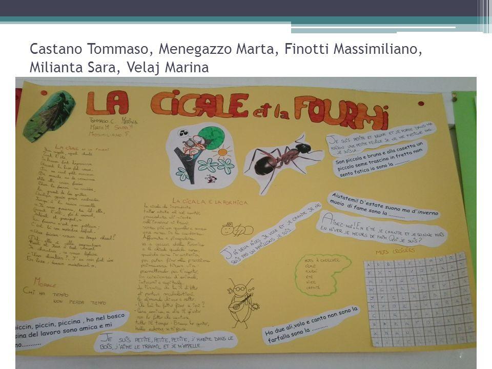 Castano Tommaso, Menegazzo Marta, Finotti Massimiliano, Milianta Sara, Velaj Marina