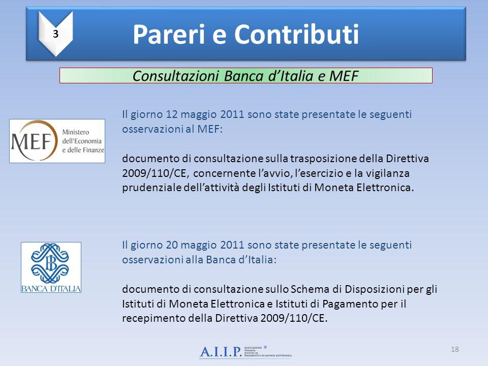 Consultazioni Banca dItalia e MEF Il giorno 12 maggio 2011 sono state presentate le seguenti osservazioni al MEF: documento di consultazione sulla tra